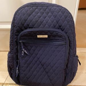 Vera Bradley navy quilted back pack